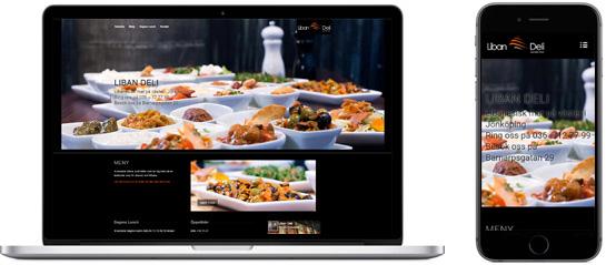 Webbsida producerad för Liban Deli i Jönköping