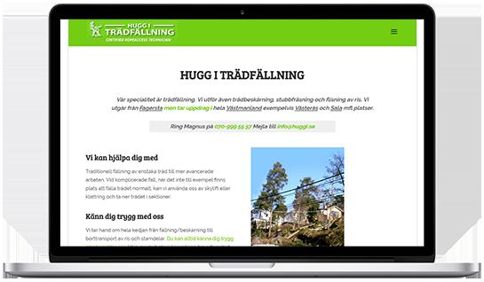 Webbproduktion åt Hugg i Trädfällning i Västmanland