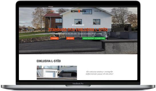 Modern hemsida med välkomstbild